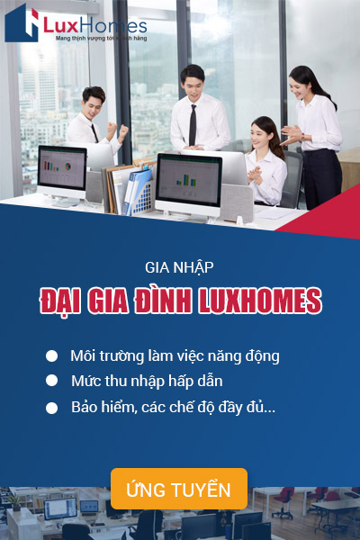 Banner tuyển dụng luxhomes